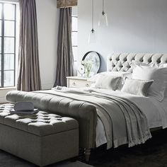 Symons Bed Linen Collection – Bed Linen – Bedroom – The White Company UK- White Linen Bedding, Bed Linen Design, Cool Beds, Bed Linens Luxury, White Company Bedroom, Luxury Bedding Sets, Bed, Luxury Bedding Collections, Luxury Bedding