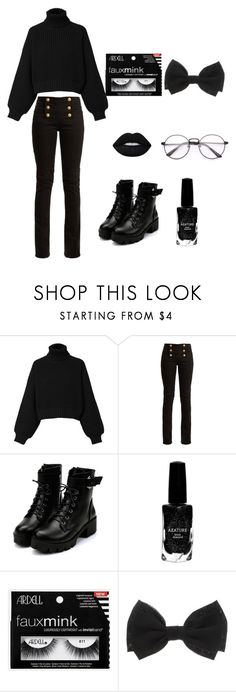 """""""Edgy Turtleneck Sweater"""" by katyusha-zaystev ❤ liked on Polyvore featuring Diesel, Balmain, Azature and allblackoutfit"""
