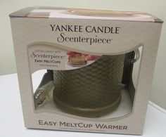 For sale in our Ebay store - won't last long!!  Click on photo for details - makes a great gift!  Yankee Candle Scenterpiece Easy Meltcup Electric Wax Warmer Green Dune Weave  #YankeeCandle #candle #tart #scents #meltcup #scenterpiece #gift #Yankee #home #smells #dune #duneweave