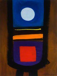 White Circle, Red Square, 1988 by Wilhelmina Barns-Graham (1912-2004)