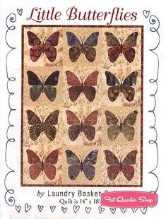 Great Little Butterflies Quilt PatternLaundry Basket #LBQ 0475M   Quilt Patterns  | Fat Quarter Shop Awesome Design