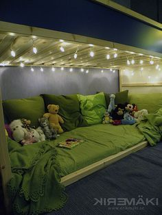 Adorable reading space under the Kura Bed