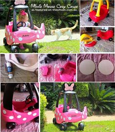 Minnie Mouse Cozy Coupe Makeover