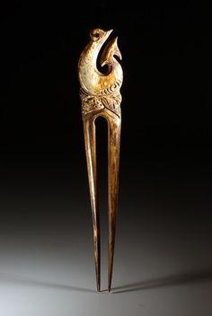 New Zealand bone hairpin