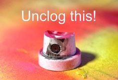 Picture of Unclogging Rust-Oleum Nozzle
