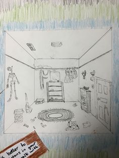 """Visual Journals #8 - Intro Art - """"What's In the Closet / Perspective"""" -NGHS Room 406"""