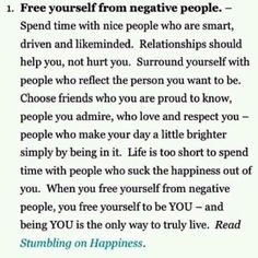Free yourself of negative people