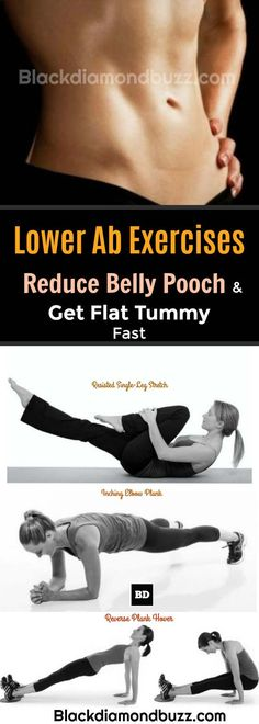 Lower Ab Exercises to Reduce Belly Pooch and Get Flat Tummy Fast