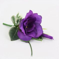A purple lisianthus buttonhole. A pearl headed pin is provided with which to attach the buttonhole with and it measures approx wide. Blue Orchid Wedding, Neutral Wedding Flowers, Cheap Wedding Flowers, Winter Wedding Flowers, Wedding Flower Decorations, Flower Bouquet Wedding, Wedding Flower Arrangements, Flower Corsage, Flowers Decoration