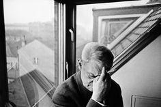 Leonard Freed. W Germany 1961 Munich. Fritz Kortner  German-Jewish actor and stage director