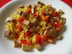 Reiscurry mit Paprika und Tofu