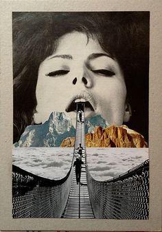Artist Sammy Slabbinck creates surrealist collage and illustration pieces from vintage photographs. Collages, Surreal Collage, Surreal Art, Arte Pop, Photomontage, Collage Foto, Collage Artwork, Dada Collage, Soul Collage