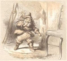 Santa Delivering Toys/ Artist: F.O.C. Darley (1822-1888) / Image Appears In: A Visit From Saint Nicholas / Date Image Published: 1862