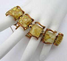 Vintage Coro Confetti Bracelet  Gold fleck by JanesVintage on Etsy