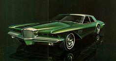 Duesenberg Design Proposal by Virgil Exner c. Retro Cars, Vintage Cars, Design Transport, Futuristic Cars, Us Cars, Unique Cars, Transportation Design, Limousine, Retro Futurism