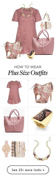 """Dusky Pink Tunic"" by hope-houston on Polyvore featuring Isolde Roth, Thalia…"