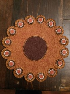 Whipped Cream Icing, Penny Rug Patterns, Penny Rugs, Wool Applique, Wool Felt, Candles, Whipped Cream Frosting, Candy, Candle Sticks