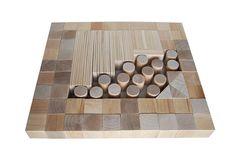Developmental Wooden Toy Natural Wooden Blocks 110 от AndrGreen