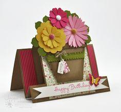 Splotch Design - Jacquii McLeay - Stampin Up - Flower Pot Card