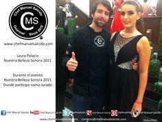 Con Laura Palacio, (Nuestra Belleza Sonora 2011) y jurado en evento Nuestra Belleza Sonora (Página Oficial) 2015!!! buena vibra!!! #chefcms #LauraPalacio #nbsonora #nbsonora2011