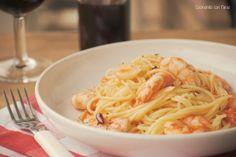 Cocinando con Neus: Spaguettis con gambas al ajillo