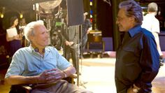 Clint Eastwood and Frankie Valli on set of 'Jersey Boys' Clint Eastwood, Jersey Boys, Ray Charles, Puerto Rico, John Lloyd Young, Battle Of Iwo Jima, High Plains Drifter, Frankie Valli, Sergio Leone