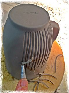 Pottery - Decorating - Sgraffito and Carving