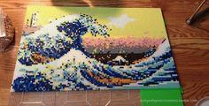 Wave of Kanagawa in Perler Beads. Cool.