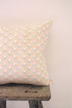 Cushion Cover Pastel Triangle Geometric by NeonVintageDesign