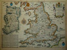 John Speed Invasions 1676, map