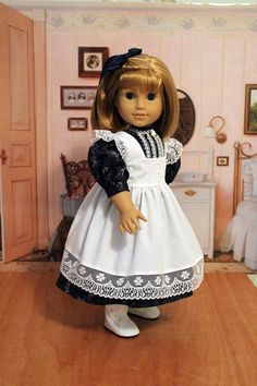 Dress and Pinafore for Dolls like Samantha and by BabiesArtUs