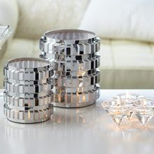 Enchanted Linear Candle Holder, Shiny, metalic, tabletop centerpiece, wedding decor ideas