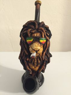 Hey, I found this really awesome Etsy listing at https://www.etsy.com/listing/252384768/tobacco-hand-made-pipe-rasta-lion-design