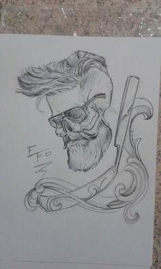Desenho que serviu de base pra minha primeira tatoo. By Efo