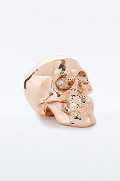 Copper Skull Money Bank