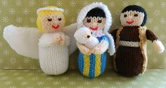Here is Christmas Nativity - Part 1 collection. This pattern is worked flat & would suit a beginner. http://www.ravelry.com/patterns/library/angel-mary-joseph-and-baby-jesus-dolls