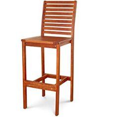 VIFAH V495 Outdoor Wood Bar Chair