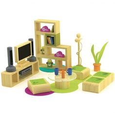Bamboo Dollhouse Lifestyle Living Room