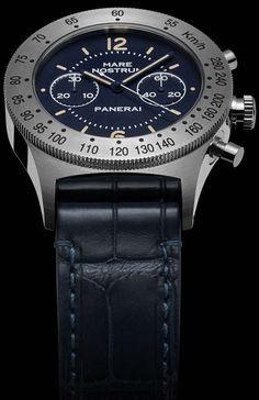 La Cote des Montres : La montre Panerai Mare Nostrum Acciaio - 42mm - PAM00716 - D'un bleu intense et raffiné