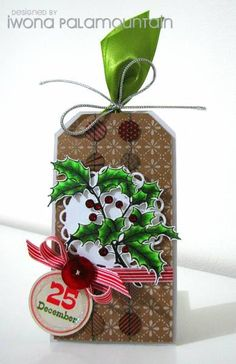 Holly tag by Chupa - Cards and Paper Crafts at Splitcoaststampers