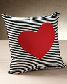 Domusworks 'Red Heart' Decorative Pillow