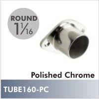 Closed Flange For Diameter Rod, Polished Chrome