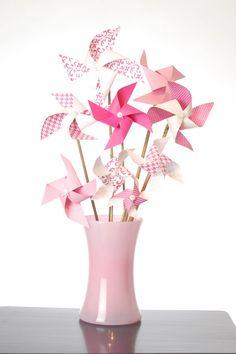pinkity pink pinwheel bouquet