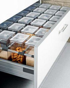 praktische Ideen Organization der Küchenschubladen gewürze modern