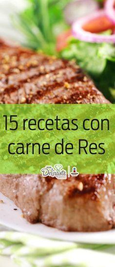 Amarás estas 15 recetas básicas preparadas con carne de res.