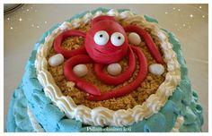 Pullantuoksuinen koti: Mustekalakakku Syntymäpäiville Octopus cake Sealife cake