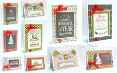 """A set of 10 cards made with Echo Park """"Tis the Season"""" created by Hilary Nicholas"""