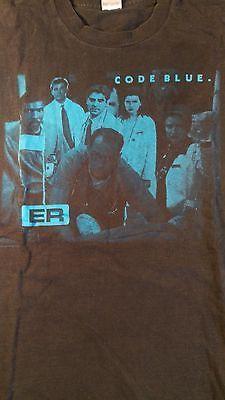 Vtg 90s Er Code Blue Tv Show T Shirt Mens M 100 Cotton Black Nbc
