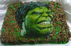 Bolo do Hulk - Theme Cake - https://www.docemeldoces.com/