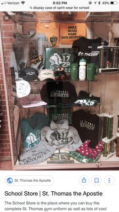Pta School, School Store, High School, Thomas The Apostle, Spirit Store, Student Council, Spirit Wear, School Spirit, Display Case